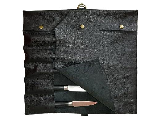 Ligero - Funda de piel auténtica 5 bolsillos bolso Chef ...