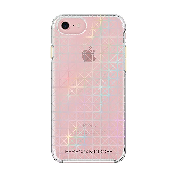 buy online c5d44 f2f67 Rebecca Minkoff iPhone 7 Case, Double Up Designer Phone Case [Shock  Absorbing] fits iPhone 7 - Stud Print/Holographic Foil