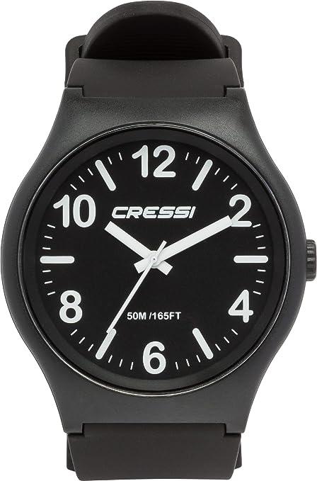Cressi Watch Echo Reloj Analógico de Cuarzo, Unisex Adulto, Negro, Uni