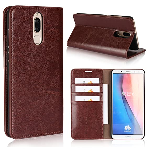 selezione premium bd745 5cd14 Huawei Mate 10 Lite Case,iCoverCase Genuine Leather Wallet Case [Slim Fit]  Folio Book Design with Stand and Card Slots Flip Case Cover for Huawei Mate  ...