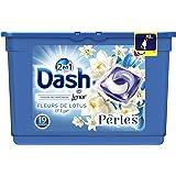 Dash 2en1 Perles Lessive en Capsules Fleurs de Lotus & Lys 19Lavages