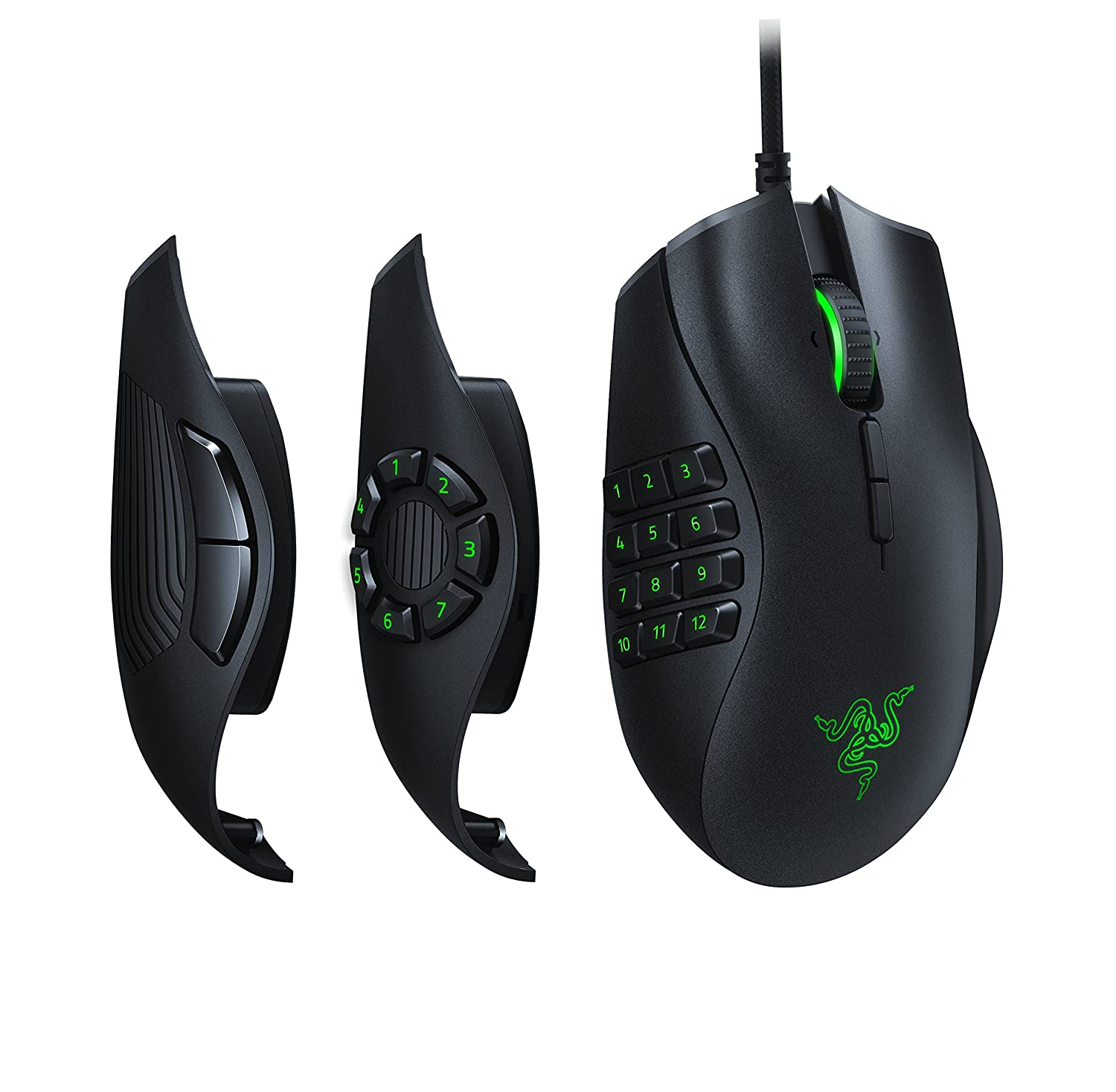 Razer Naga Trinity: True 16,000 5G Optical Sensor - 3 Interchangeable Side Plates - Chroma Enable - Gaming Mouse