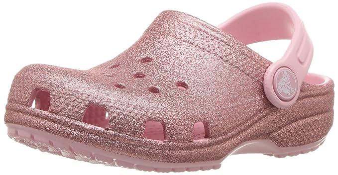 48d52fd8c3 crocs Unisex Kids' Classic Glitter Clog, Blossom 1 M US Little