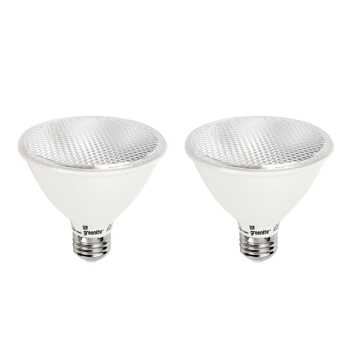 LED PAR30 Short Neck Dimmable Flood Light Bulb, 11W (75W Equivalent), 900 Lumens, 3000k Bright White, 120V, Indoor/Outdoor, Energy Star Certified, UL Listed (2 Pack)