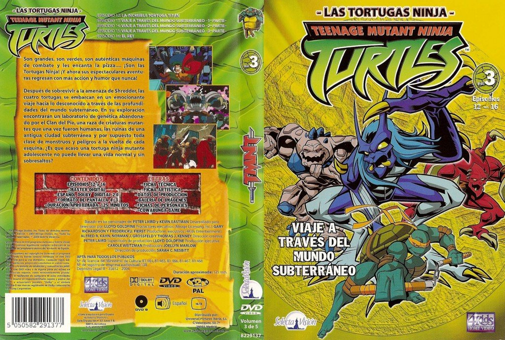 Las Tortugas Ninja Vol. 3: Viaje a través del Mundo ...