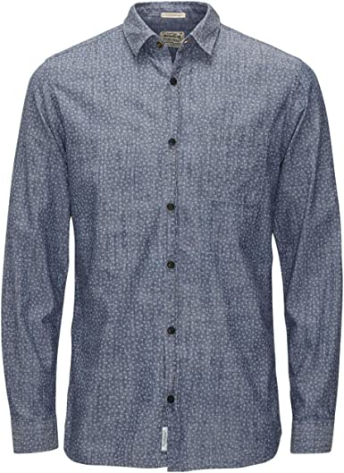 JACK & JONES VINTAGE JJVCARDIFF SHIRT L/S ONE POCKET, Camisa Hombre, Azul (Mood Indigo), Medium: Amazon.es: Ropa y accesorios