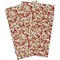 DII Cotton Thanksgiving Fall Holiday Decorative Dish Towels, 18x28, Set of 2-Rustic Leaves