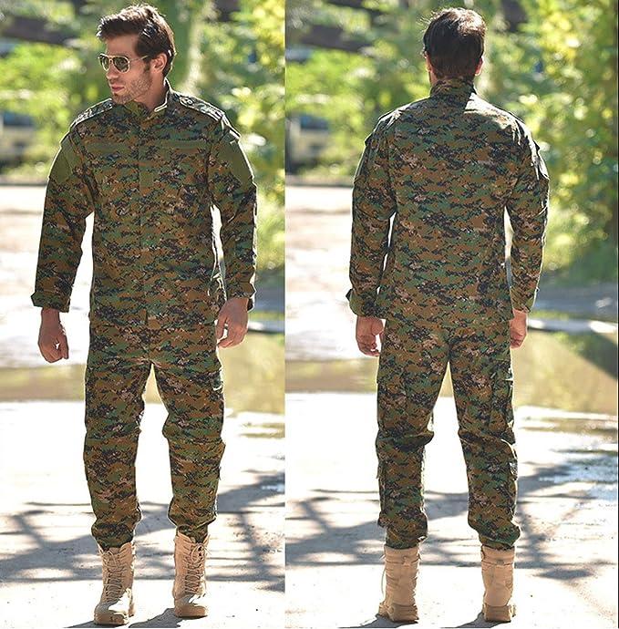 LANBAOSI - Chaqueta táctica y pantalones para hombre, diseño de ...