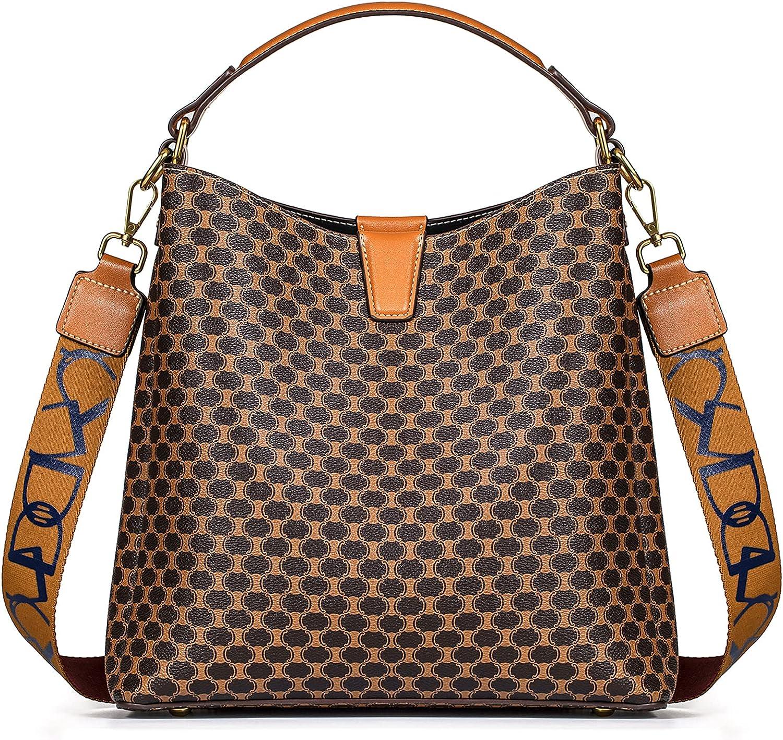 TIBES Satchel Handbag for Women Vintage Leather Shoulder Bag Top Handle Purses...