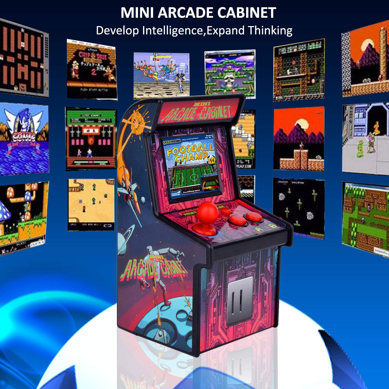 GBD Kids Mini Retro Arcade Game Cabinet Machine 200 Classic Handheld Video Games 2.5'' Display Joystick Travel Portable Game Player Kids Boys Girls Holiday Birthday Gifts Electronic Toys by GBD (Image #4)