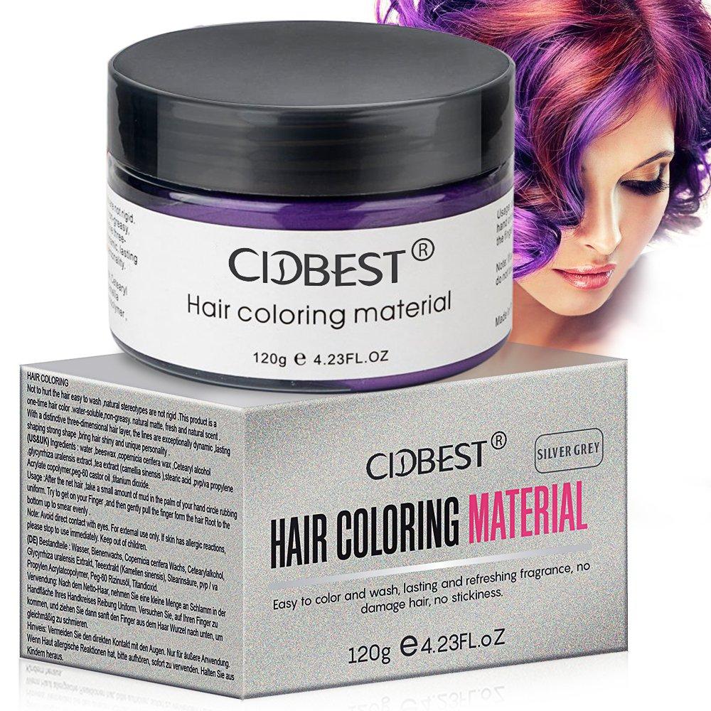 Amazon Hair Wax Purple Hair Color Wax Temporary Hair Mud