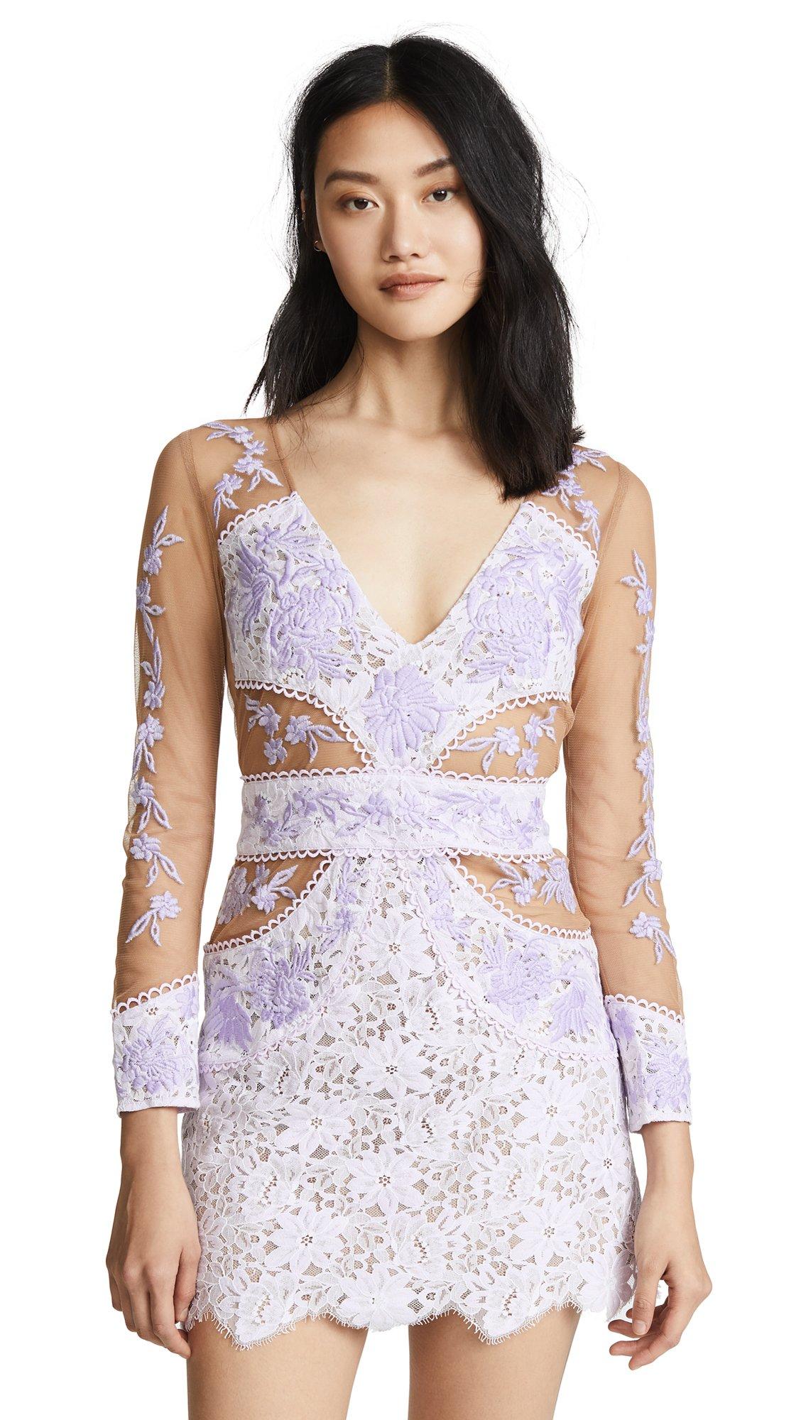 For Love & Lemons Women's Matador Tulle Dress, Lilac, Medium