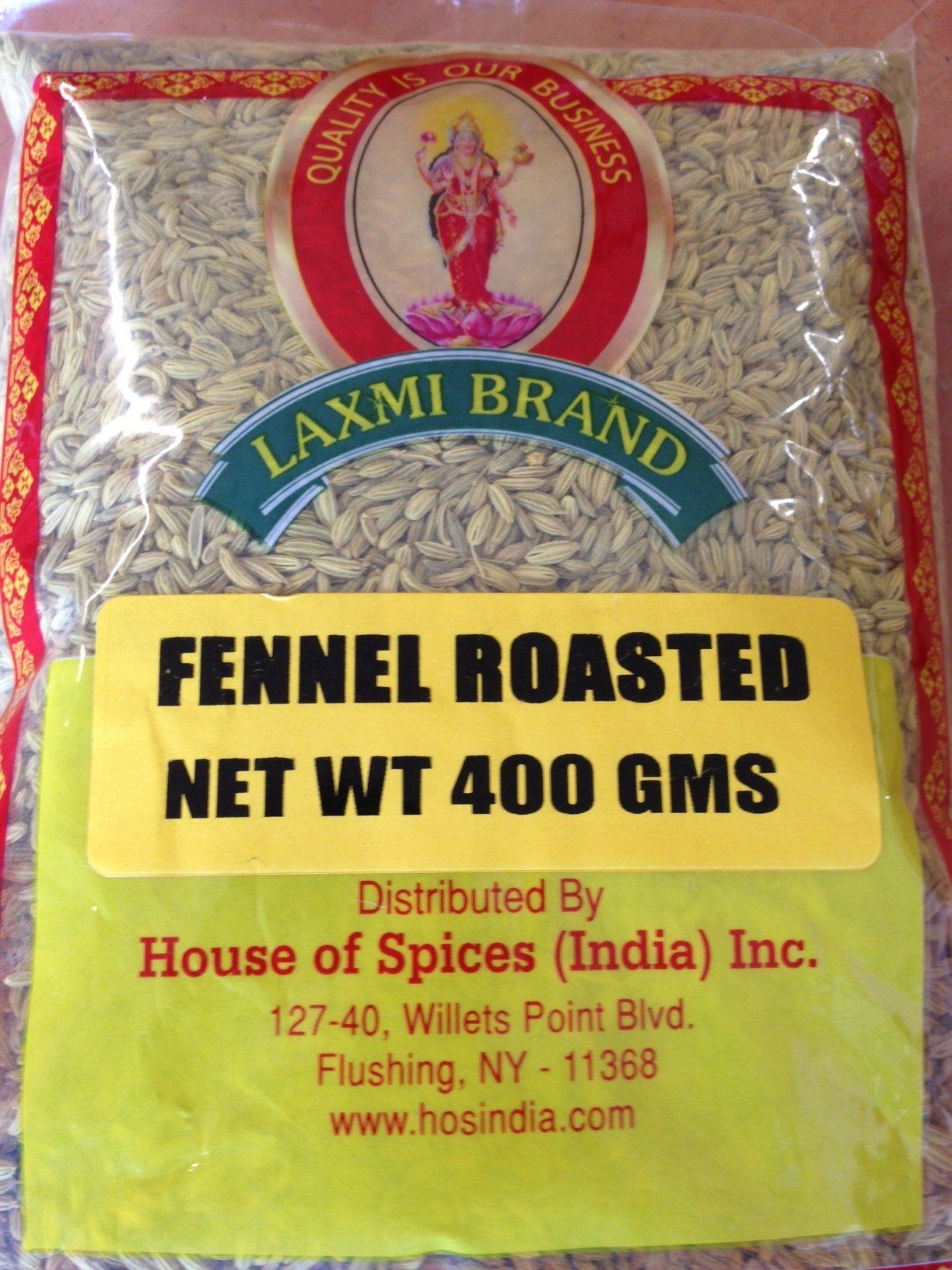 Laxmi Fennel Seeds Roasted 400g