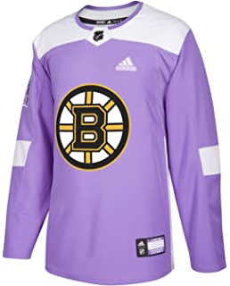 ef1323c1 adidas Boston Bruins NHL Hockey Fights Cancer Men's Authentic Practice  Jersey