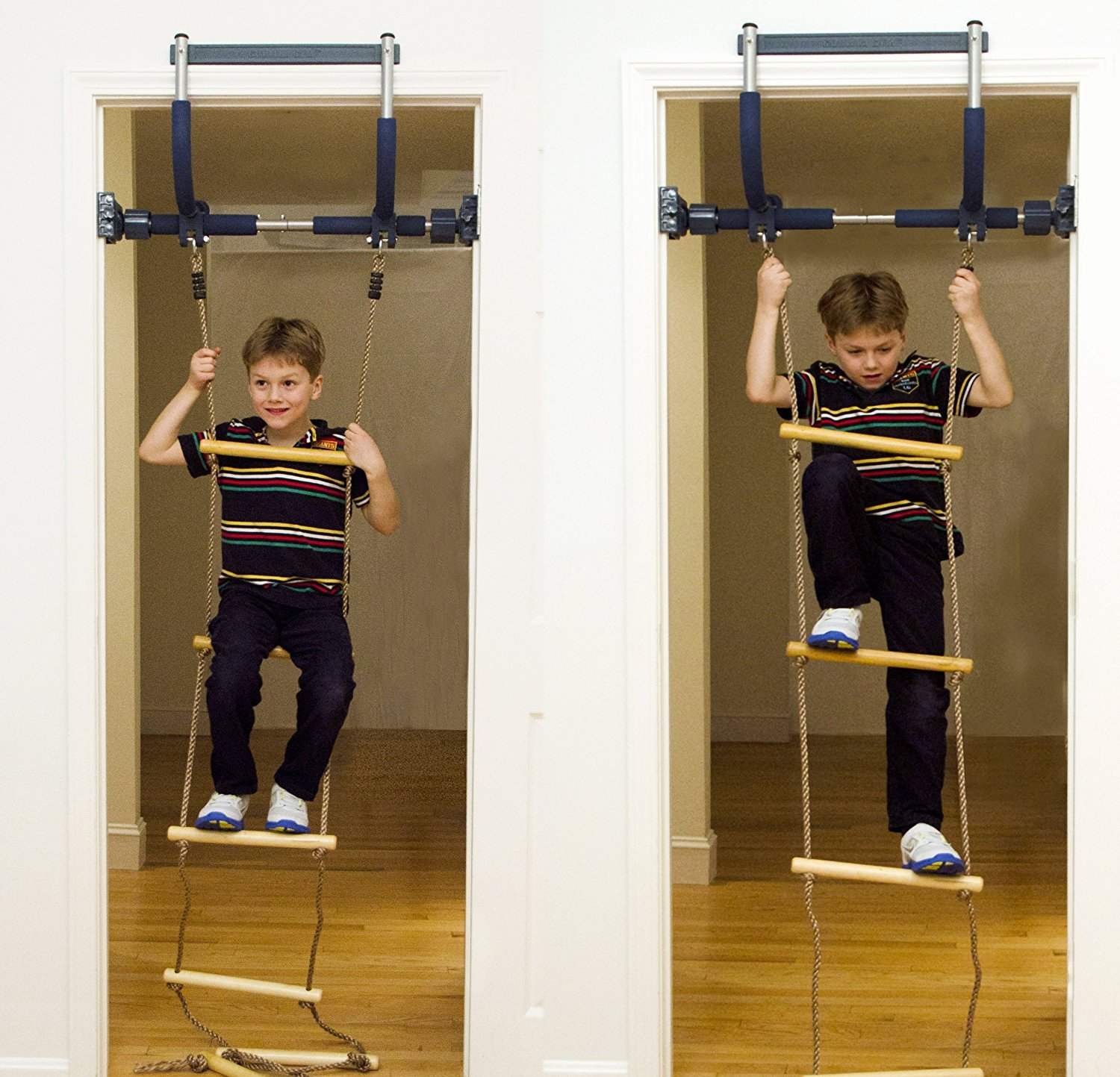Gym1 Indoor Playground with Indoor Swing, Plastic Rings, and Climbing Ladder by Gym1 (Image #4)