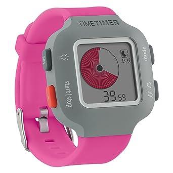 La hora del reloj temporizador para mujer y niños de colour gris con pulsera - Rosa