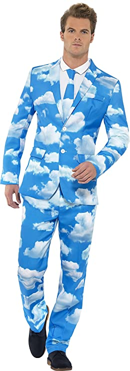 Amazon.com: Smiffy\'s Men\'s Sky High Suit with Jacket Trousers and ...