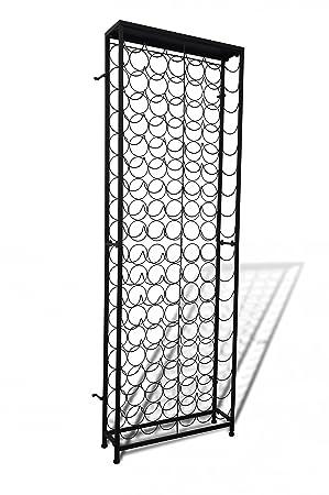 vidaXL Flaschenregal 108 Flaschen Metall Flaschenständer Weinregal Weinständer