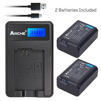 Amazon.com: ARCHE NP-FW50 FW50 < 2 Pack> Batería y kit de ...