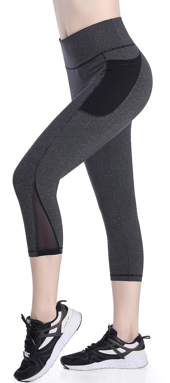 SEYO Yoga Pantalones Mujer Pantalones Deportivos Cintura Alta Leggins Deportivos con Bolsillo