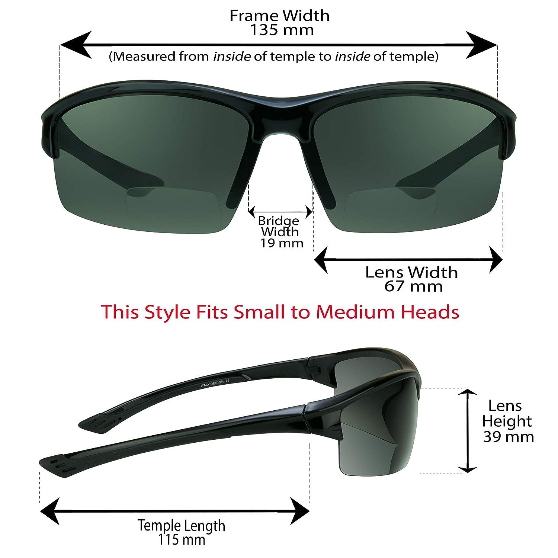 Smoke or Brown proSPORT Polarized Bifocal Reading Sunglasses TAC Polarized Lenses for Men and Women
