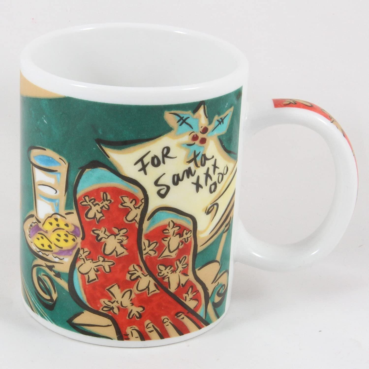 Starbucks Coffee Mary Graves Home for the Holidays Santa Mug 12 Oz.