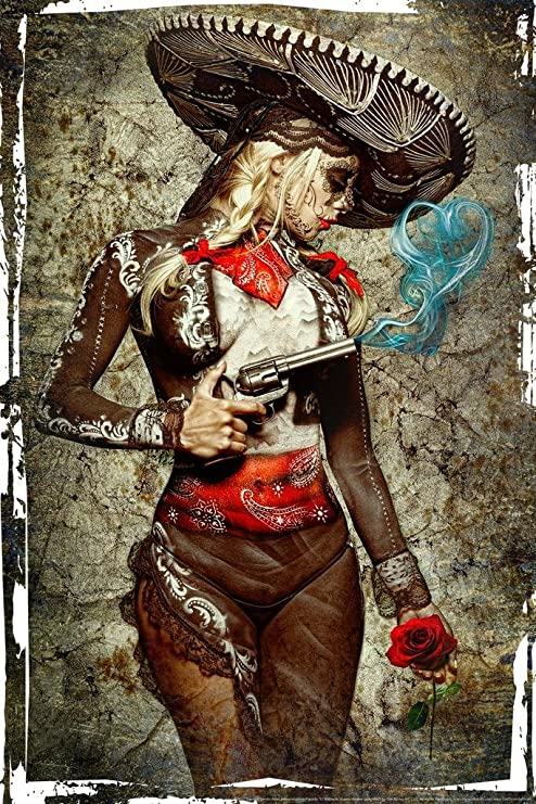 El Mariachi Muerte by Daveed Benito inch Poster 24x36 inch