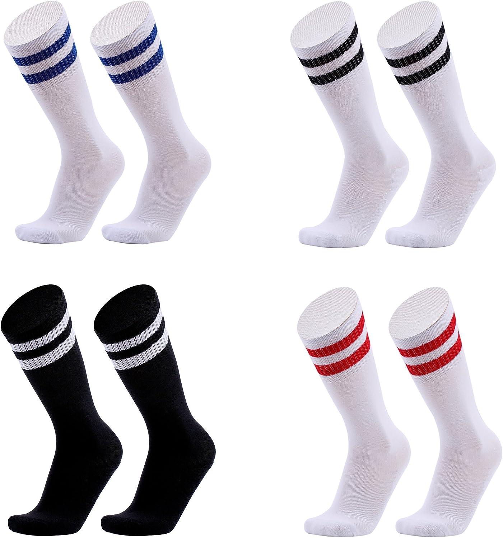 Baby Boys Girls Toddler Kids Knee High Length Cotton Stripes School Sport Sock J