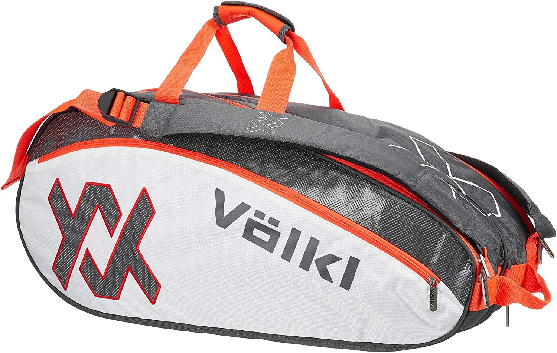 Volkl Tour Combi Charcoal and Lava Tennis Bag Char//Wh//Lava