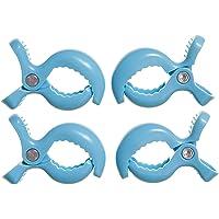 Dreambaby Stroller Clips 4pk, Blue,