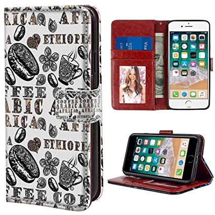 Amazon Com Iphone 8 7 4 7inch Wallet Phone Case With Card