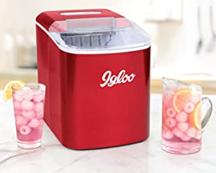 Igloo ICEB26RR 26-Pound Automatic Portable Countertop Ice Maker Machine, Retro Red