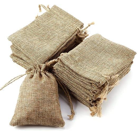 Eco Yute bolsas de arpillera con cordón de arpillera bolsa ...