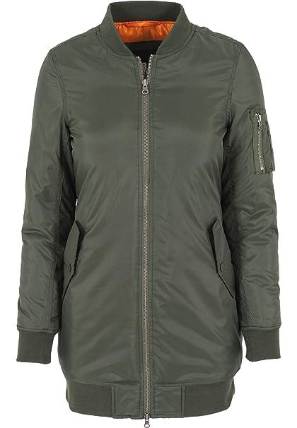 reputable site 85ad0 3100d Urban Classics Damen Jacke Jacke Long Bomber Jacket