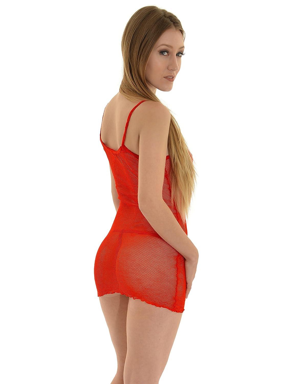 Amazon.com  Womens Fishnet Mini Dress G-String Panties Red Purple or Black  Fishnet Lingerie Color  Black  Adult Exotic Dresses  Clothing 9035dbfff