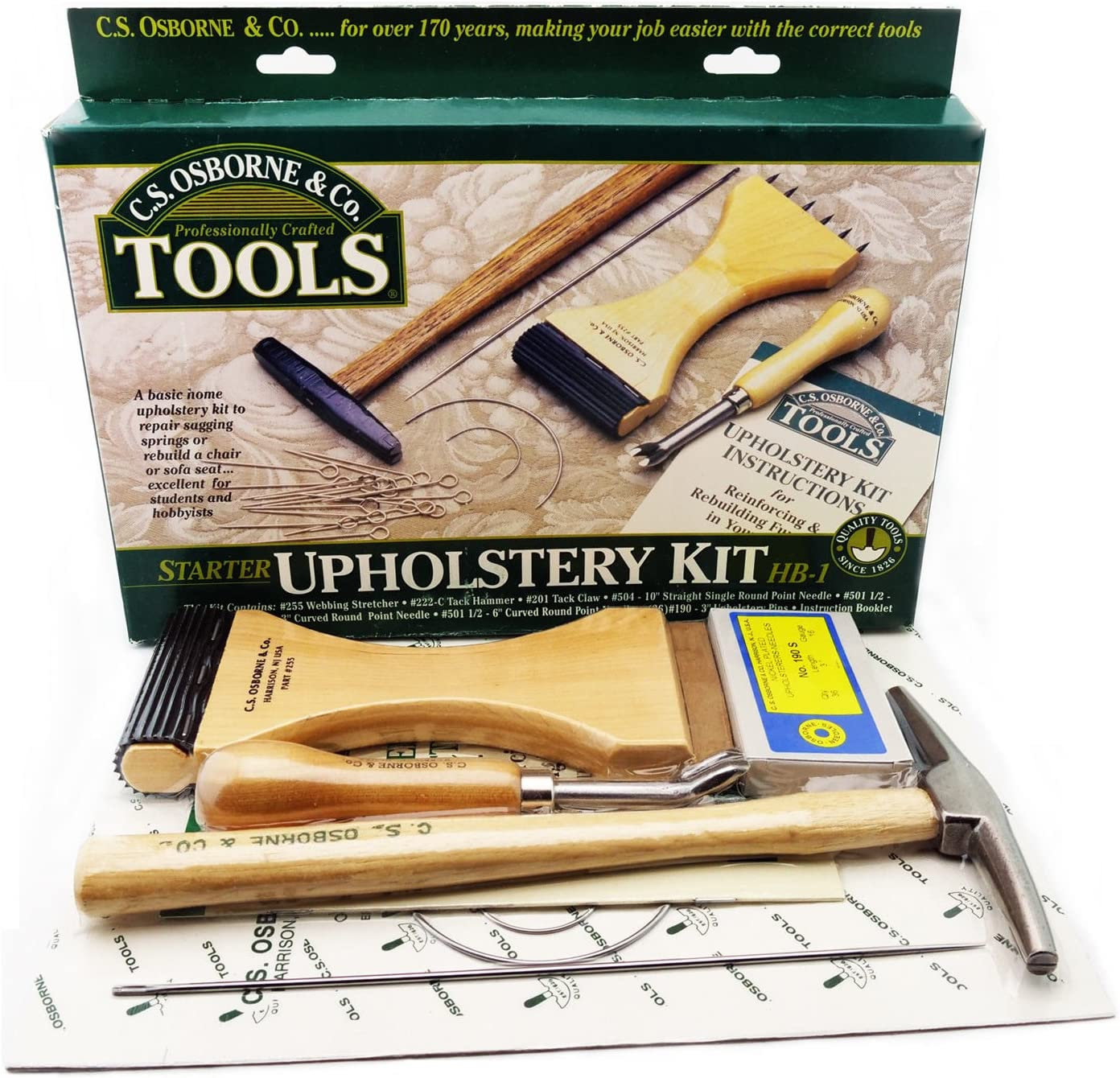 C.S. Osborne Starter Upholstery Kit HB-1 Professionally Crafted Tools