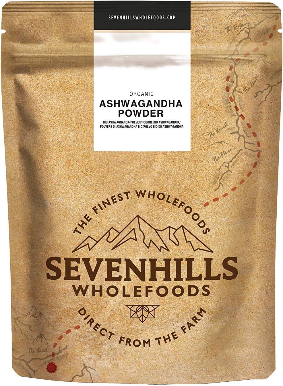 Sevenhills Wholefoods Ashwagandha En Polvo Orgánico 1kg: Amazon.es ...