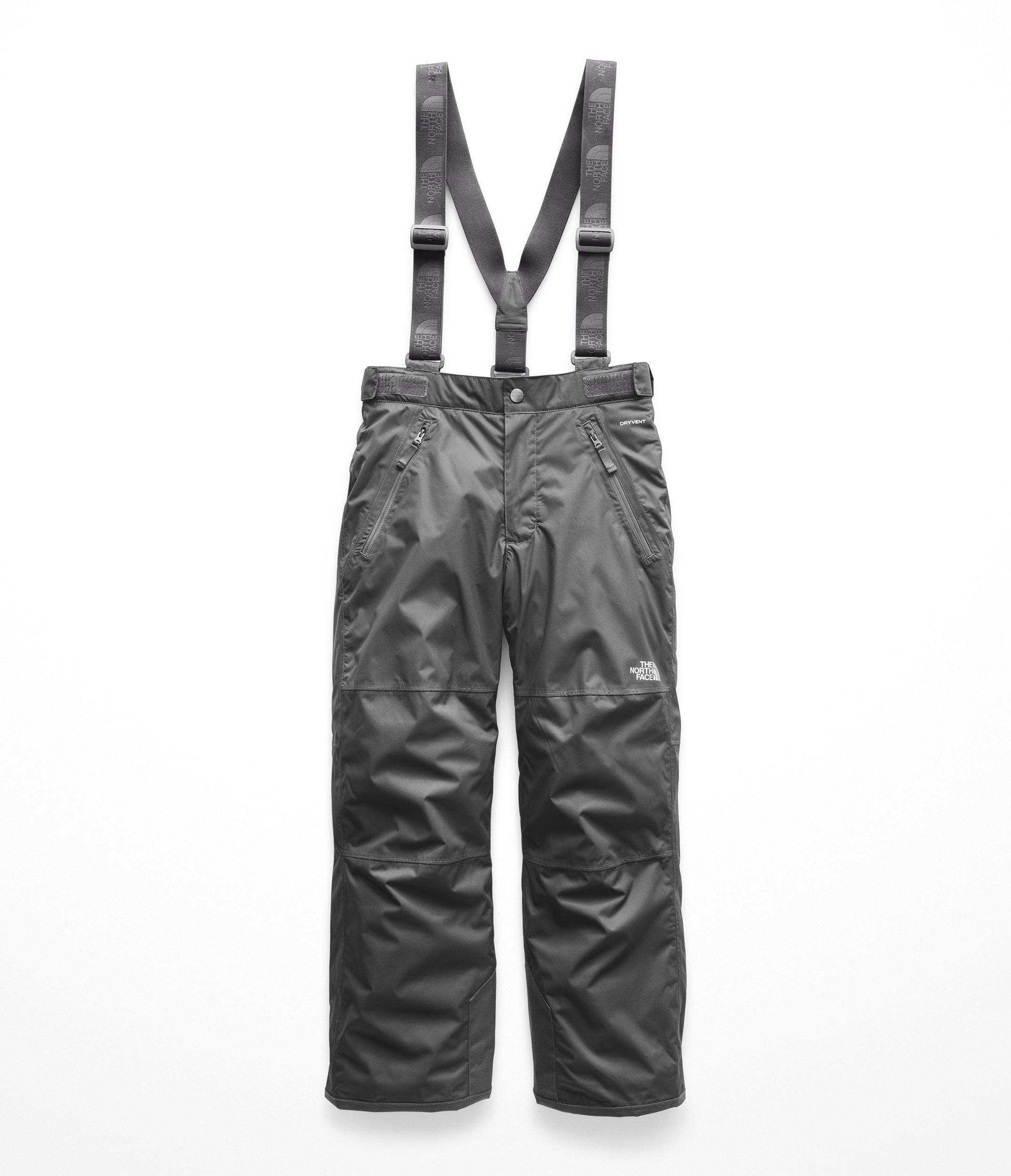 The North Face Kids Boy's Snowquest Suspender Plus Pants (Little Kids/Big Kids) Graphite Grey Small