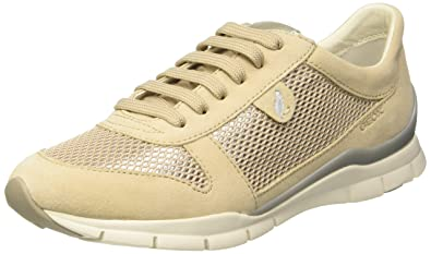 Geox Sukie A, Sneakers Basses Fille, Beige (Ivoryc1008), 41 EU