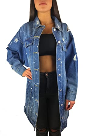 huge discount 4aa94 3ee13 Worldclassca Blogger Damen Jeansjacke LANG Used WASH ...