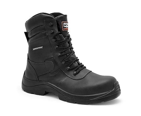 AIRSAFE AS-C8 - Botas de seguridad impermeables , color negro, talla 46 EU: Amazon.es: Zapatos y complementos