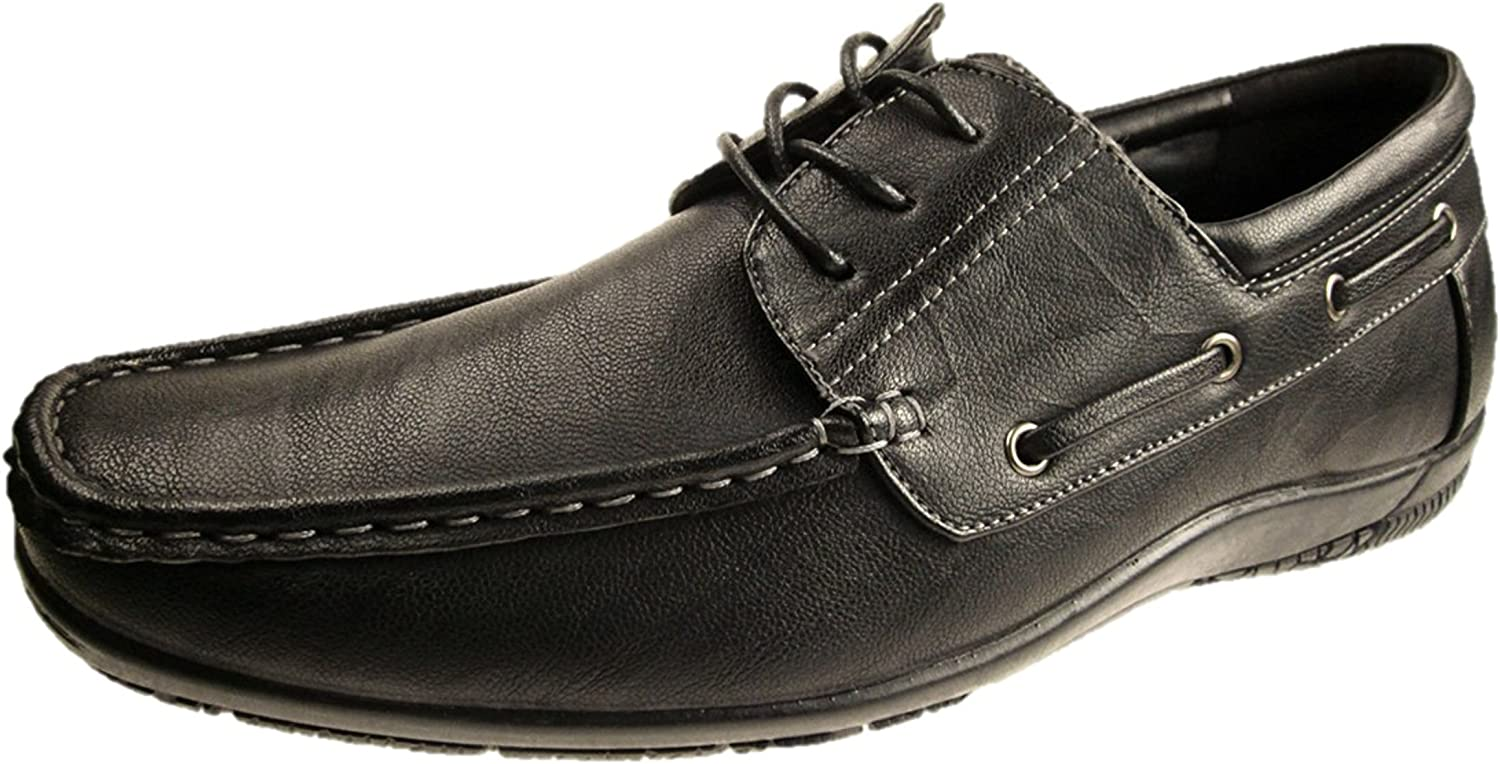 BRICKERS MENS FAUX LEATHER FORMAL DRESS OFFICE CASUAL SHOES SLIP ON SZ 6-12
