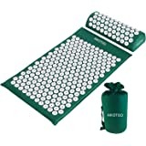 Acupressure Mat and Pillow Set for Sciatic Pain Back Pain and Neck Pain Relief Relieve Stress by Aikotoo