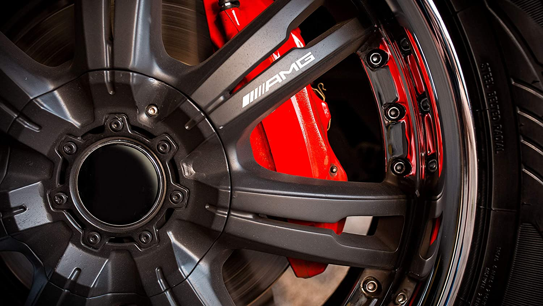 BLS Graphics X4 Mercedes AMG Bremssattel Vinyl Emblem Aufkleber Hi-Temp Schwarz