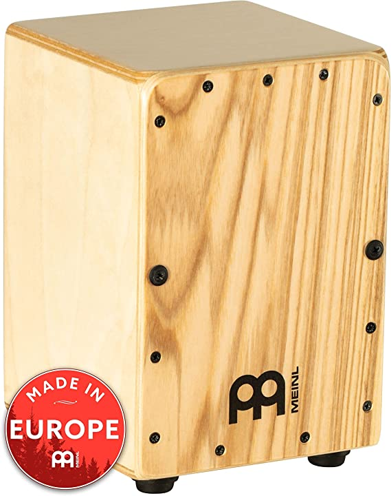 Meinl Mini Cajon Box Drum with Internal Snares - MADE IN EUROPE - Heart Ash Frontplate / Baltic Birch Body