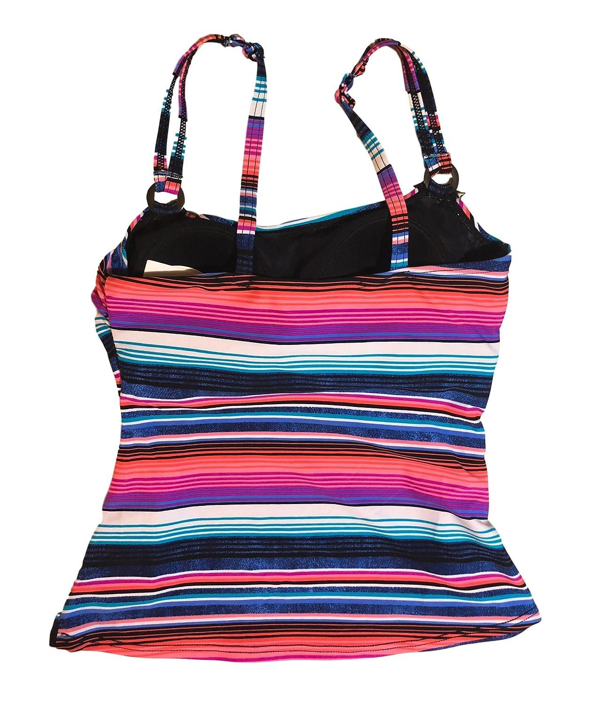 c7271df49606f Croft   Barrow Swimwear D-Cup Tankini Top Multi Pink Stripes (6 ...