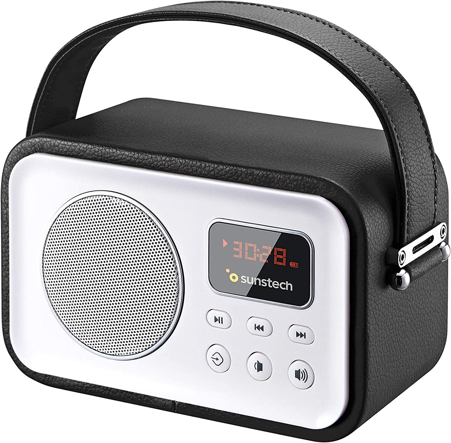 Sunstech RPBT450BK - Radio de diseño Retro con Bluetooth, Color Negro