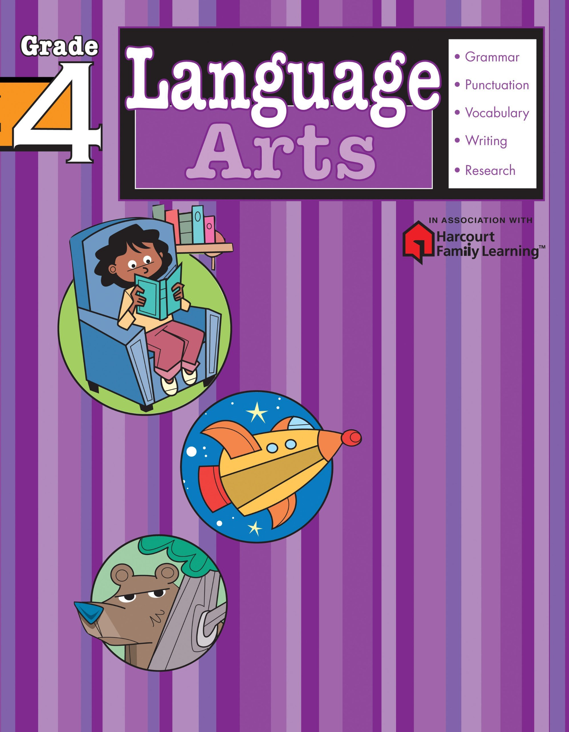 Language Arts: Grade 4 (Flash Kids Harcourt Family Learning): Flash Kids  Editors: 9781411404120: Amazon.com: Books