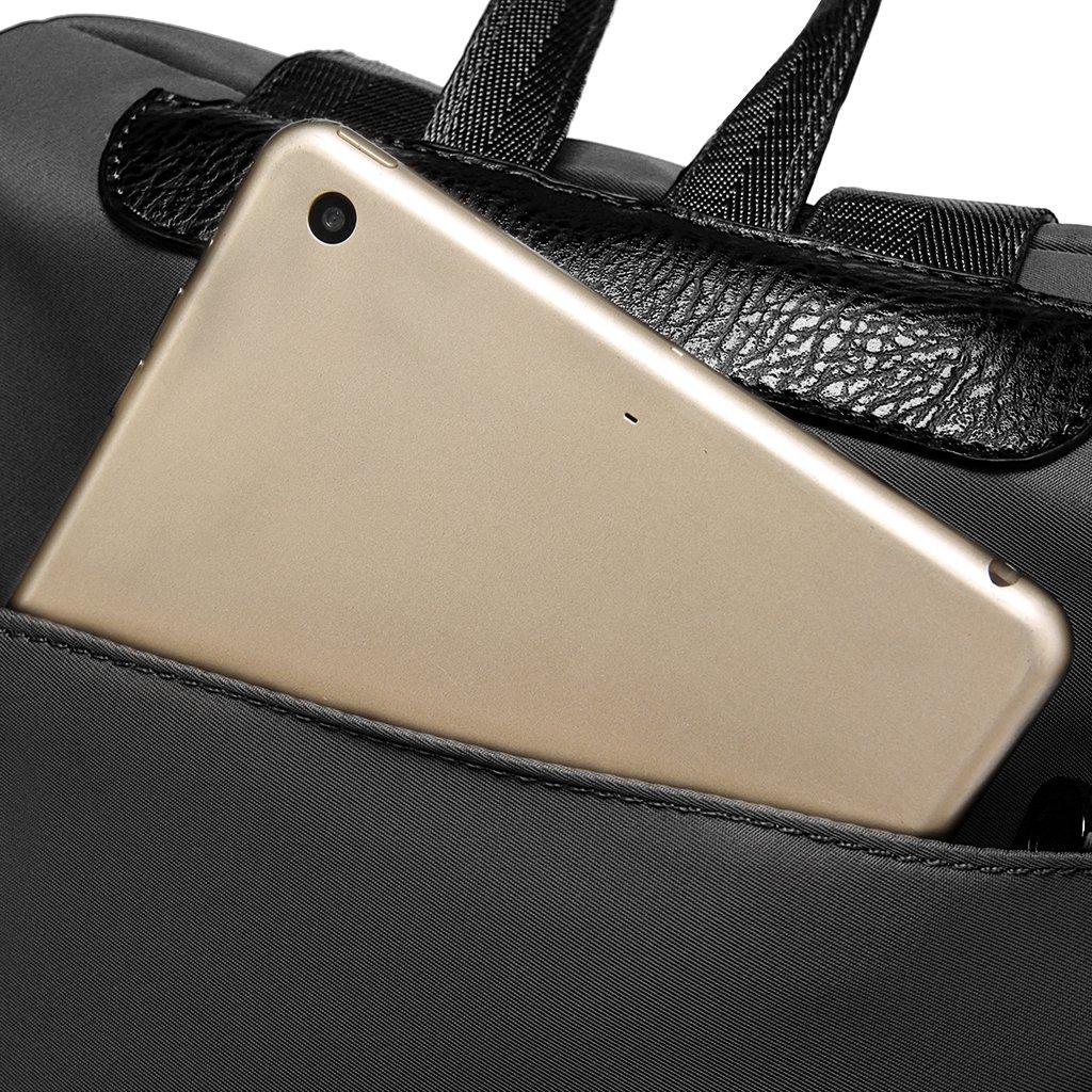 Thobu Women Fashion Nylon Backpack Purse Lightweight Schoolbag Travel Casual Daypack-Black by Thobu (Image #4)