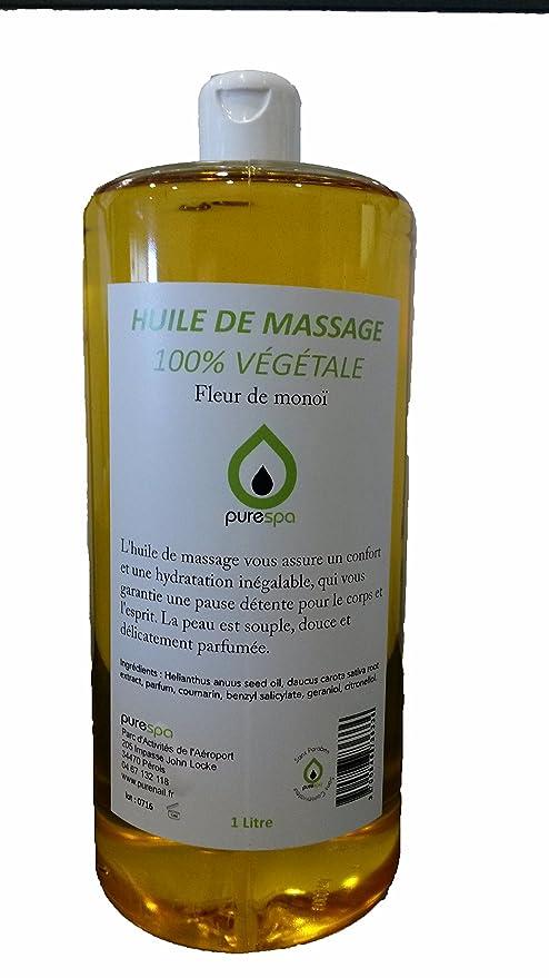 De Parfumée Monoï1 Huile Litre Massage Fleur Végétale DWYeE2IH9